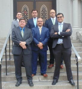Attorneys and staff at law office