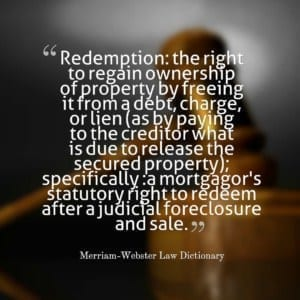 Use a NJ Foreclosure attorney for Redemption